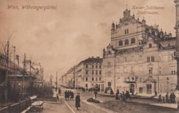 AK - Wien IX. - Kaiser-Jubiläums-Stadttheater Am Währingergürtel Mit Passanten 1910 - Wien