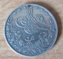 Egypte - Monnaie 2 Qirsh Egypte 1293 (1894) En Argent - Poids : 2,7 Grammes - Diam. 19 Mm - Egipto