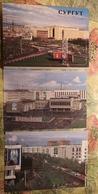 RUSSIA . Surgut City - Old USSR Postcard Lot  - 13 PCs 1988 - Street Propaganda - Rusland