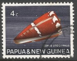 Papua New Guinea. 1968-69 Sea Shells. 4c Used. SG 139 - Papouasie-Nouvelle-Guinée