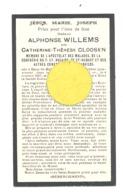Faire-part De Décès De  Mde Catherine CLOOSEN ép. De A. Willems - HERN-St-HUBERT 1868 / CHERATTE 1937  (b243) - Overlijden
