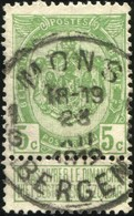 "COB   83  (o) Oblitération ""Mons Bergen 1 G "" T4R - 1893-1907 Armoiries"