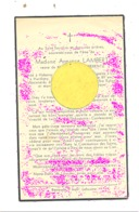 Faire-part De Décès De  Mde Armance LAMBERT ép. De H. Berentz - HABERGY  / HARDIGNY 1941  (b243) - Overlijden