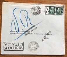 SCONOSCIUTO AL PORTALETTERE + AL MITTENTE + VA RESPINTA SU BUSTA DEL 30/9/41 - 1900-44 Vittorio Emanuele III