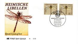FDC  GERMANY  Dragonflies   -   Lettre   ALLEMAGNE   Libellules  1991 - Insekten