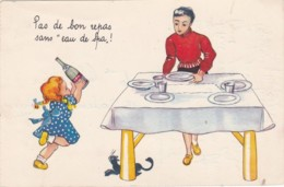 CP - Publicité - EAU DE SPA - Pas De Bons Repas Sans L'eau De Spa. (lot Pat 39) - Reclame