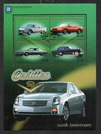 SAINT VINCENT ET GRENADINES - B/F - M/S - VOITURES - CARS - CADILLAC - 100éme ANNIVERSAIRE - 100th BIRTHDAY - 2003 - - St.Vincent & Grenadines
