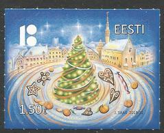 EE 2018-22 Christmas New Year, ESTONIA, 1 X 1v, MNH - Noël