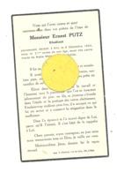Faire-part De Décès Mr. Ernest PUTZ, étudiant  - ANS 1942 (b243) - Overlijden