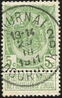"COB   83  (o) Oblitération ""Tournai Doornik 2 D "" T4R - 1893-1907 Armoiries"