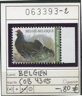 Buzin - Belgien - Belgique - Belgium - Belgie - Michel 4351 (COB 4305)  - Vögel Oiseaux Birds -  - ** Mnh Neuf Postfris - 1985-.. Vögel (Buzin)