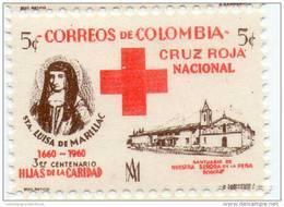 Lote CR19, Colombia, 1960, Sello, Stamp, Cruz Roja, Santa Luisa De Marillac, Red Cross, Hijas De La Caridad - Colombia