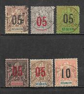 Timbre De Réunion  De 1912 N°72 A 77  Oblitérés - Réunion (1852-1975)