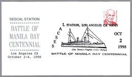 USS OLYMPIA - BATALLA DE MANILA - Battle Of Manila Bay. Los Angeles CA 1998 - Militaria