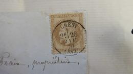 Lettre De Gresy Savoie Janvier 1870 Napoleon Lauré 10 Ct TB Cachet A Date Pour Verrens Savoie - Marcophilie (Lettres)
