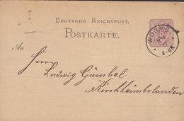 Germany Reichspost Postal Stationery Ganzsache Entier 5 PfennigE WORMS 1877 KIRCHHEIMBOLANDEN Rheinland-Pfalz - Deutschland