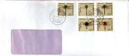 Letter GERMANY  Dragonflies   -   Lettre   ALLEMAGNE   Libellules  2006 - Insekten