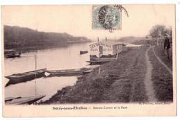 3905 - Soisy Sous Etiolles - Bateau-Lavoir Et Le Port - H.Pinchon Tabac à Soisy - - France
