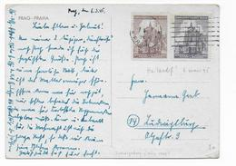 BÖHMEN Und MÄHREN - MARS 1945 ! - CARTE De PRAGUE => LUDWIGSBURG - Lettres & Documents