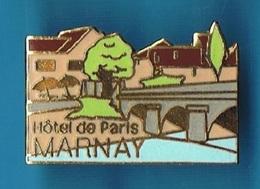 PIN'S //  ** HÔTEL RESTAURANT DE PARIS / MARNAY ** . (DIMO) - Cities
