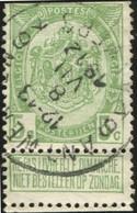 """COB   83 A  (o) Oblitération """"Antwerpen Anvers 6 K"""" T4R - 1893-1907 Armoiries"""
