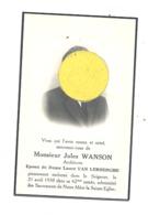 Faire-part De Décès Mr. Jules WANSON, Architecte, ép. De L. Van Lerberghe - LIEGE 1938 (b243) - Overlijden