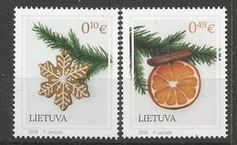 LT 2018-22 Christmas New Year, LIETUVA, 1 X 2v, MNH - Noël