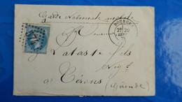 Lettre De Bourges 29 Septembre 1870 En Tete De La Garde Nationale Mobile Pour Cerons  Gironde - Marcophilie (Lettres)