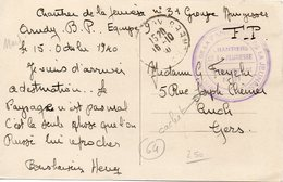 LES CHANTIERS DE LA JEUNESSE CAMP N° 31 GROUPE GUYNEMER - Postmark Collection (Covers)