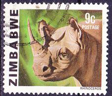 Simbabwe - Spitzmaul-Nashorn (Diceros Bicornis) (Mi.Nr.: 232) 1980 - Gest. Used Obl. - Zimbabwe (1980-...)