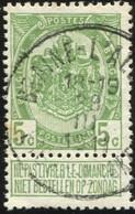 "COB   83 A  (o) Oblitération ""Braine-L'Alleud Eigen-Brakkel "" T1L - 1893-1907 Armoiries"
