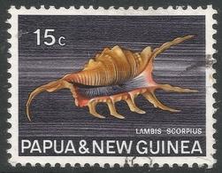 Papua New Guinea. 1968-69 Sea Shells. 15c Used. SG 144 - Papouasie-Nouvelle-Guinée