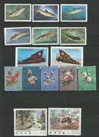 COREE DU NORD 1974 / 1975   - 15 TIMBRES Voir Scan Oblitere - Corée Du Nord