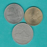 Mozambique - People's Republic - 1 (1982 - KM99) 10 (1980 - KM102) & 20 Meticais (1980 - KM103) - Mozambique