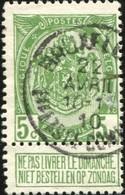 """COB   83 A  (o) Oblitération """"Bruxelles (Effets DE Commerce) """" T1L - 1893-1907 Armoiries"""