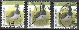 OCB Nr 4367 X3 Buzin AR Fauna Kievit Vanneau Huppé - 1985-.. Oiseaux (Buzin)