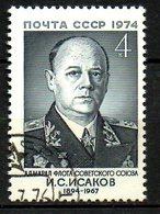 URSS. N°4056 Oblitéré De 1974. Amiral Isakov. - Militaria