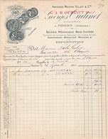 Facture Illustrée 23/9/1903 OUDINET Scirie Mécanique Brouettes MOHON Ardennes - 1900 – 1949