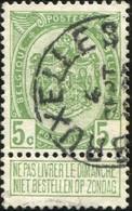 "COB   83 A  (o) Oblitération ""Bruxelles "" T1L - 1893-1907 Armoiries"