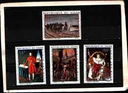 90396) NIGER- 1969 QUADRI DI NAPOLEONE POSTA AEREA -MNH**-SERIE COMPLETA N.85-87 - Niger (1960-...)