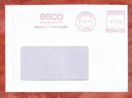 Brief, Neopost H02-3013, Esco Metallbaubeschlaege, 110 Pfg, Ditzingen 2000 (68921) - Poststempel - Freistempel