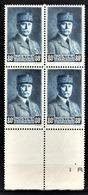 FRANCE 1941 - BLOC DE 4 TP / Y.T. N° 471  - NEUFS** - France