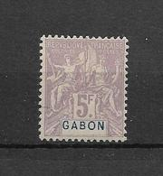 GABON- TRES BEAU TIMBRE NEUF * N° 32 DE 1904-07 -signé  D.DIENA - - VOIR SCAN DU VERSO. - Gabon (1886-1936)