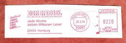 Ausschnitt, Streifbandzeitung, Hasler C78-948D, Der Spiegel, 220 Pfg, Hamburg 1994 (68922) - Poststempel - Freistempel