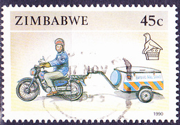 Simbabwe - Motorrad Mit Anhänger (Mi.Nr.: 433) 1990 - Gest. Used Obl. - Zimbabwe (1980-...)