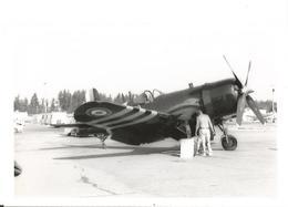 PHOTO AVION VOUGHT F4U-7 NX1337A AERONAVALE  ABBOTSFORD 1977      13X8CM - 1946-....: Era Moderna