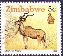 Simbabwe - Großkudu (Strepsiceros Sp.) (Mi.Nr.: 422) 1990 - Gest. Used Obl. - Zimbabwe (1980-...)