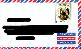 JAMAICA ,  Butterfly   / JAMAIQUE  Lettre, Papillon - Schmetterlinge