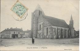 D77 - JOUY LE CHATEL - L'EGLISE - Chapellerie - Homme Avec Enfant Dans Les Bras - Autres Communes