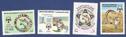 UNITED ARAB EMIRATES - UAE MNH 1990 FOOTBALL WORLDCUP ITALY ITALIA FLAG FLAGS BIRD SPORT SPORTS - Emirats Arabes Unis